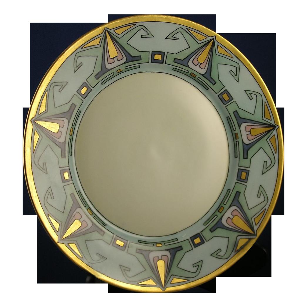 Plainemaison Limoges Art Deco Plate (c.1890-1910)