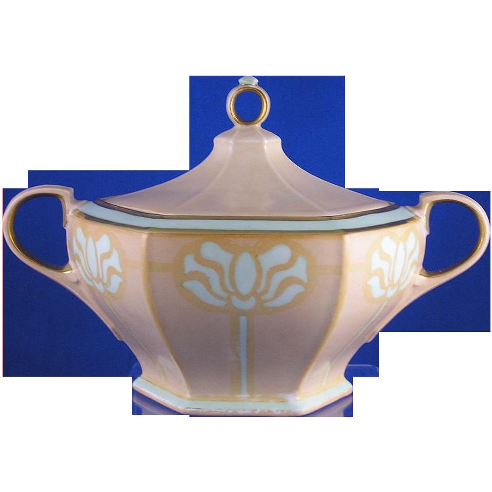 """Moritz Zdekauer (MZ) Austria Mission Style Biscuit Jar (Signed """"Jessie Martin""""/Dated 1912)"""