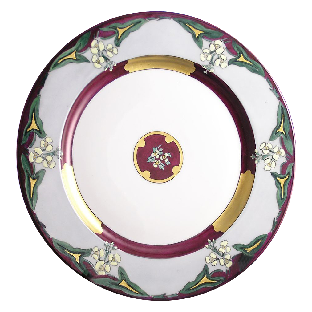 Limoges Mark 6 Arts & Crafts Charger (c.1940's)