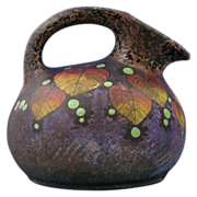 Amphora Czechoslovakia Arts & Crafts Leaf & Berry Motif Pitcher (c.1918-1936)