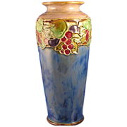 Royal Doulton Arts & Crafts Fruit Motif Vase (Signed/c.1923-1927)