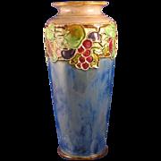 Royal Doulton Arts & Crafts Fruit Motif Vase (Signed/c.1923-1927)