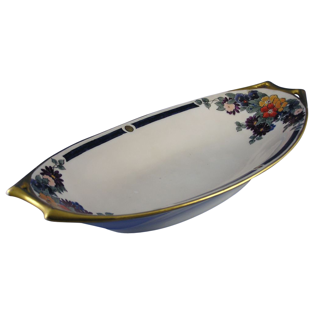 Hutschenreuther Bavaria Arts & Crafts Floral Motif Serving Dish (c.1910-1920)