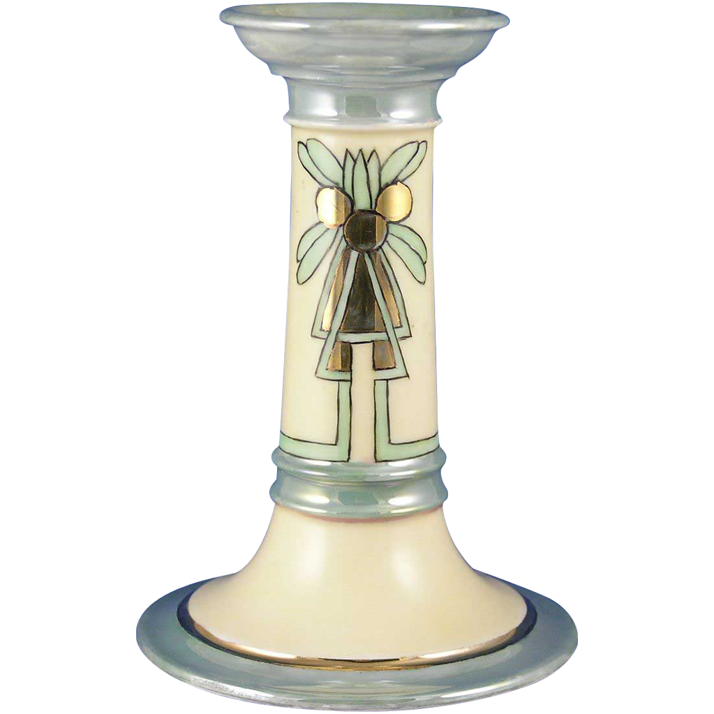 Gerard, Duffraisseix & Abbott (GDA) Limoges Art Deco Candlestick/Candle Holder (c.1900-1941)