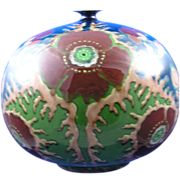 Royal Bonn Germany Old Dutch Art Nouveau Poppy Motif Vase (c.1890-1923)