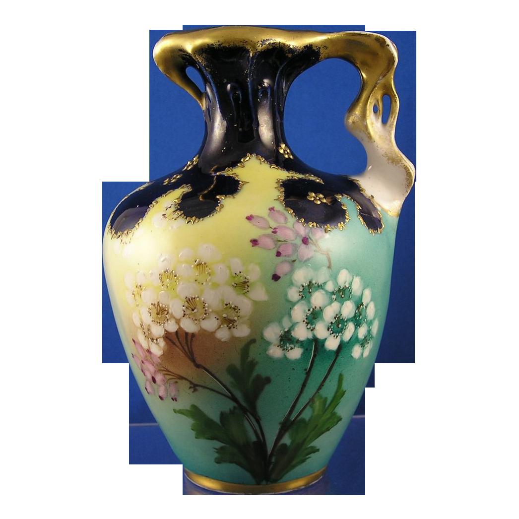 RStK Amphora Austria Art Nouveau Floral Motif Pitcher (c.1899-1910)