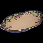 Jaeger & Co. (J&C) Bavaria Olive Motif Dish (Signed/Dated 1908)