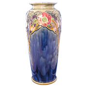 "Royal Doulton Arts & Crafts Floral Motif Vase (Signed by ""Lily Partington""/c.1923-1927)"