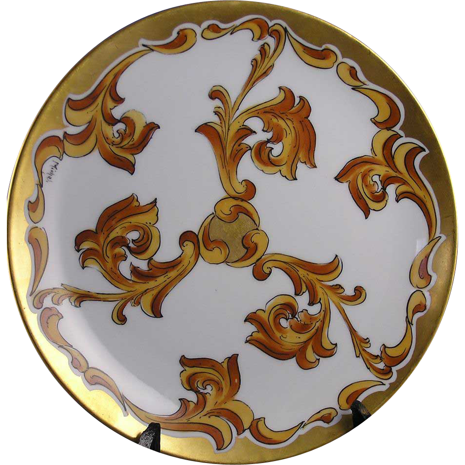 "Jaeger & Co. (J&C) Stouffer Studios Art Deco Plate (Signed ""Michel"" for Harry E. Michel/c.1906-1914)"