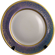 "Rosenthal Selb-Bavaria Pickard Studios ""Tracery & Blue Lustre"" Design Charger/Plate (c.1919-1922)"