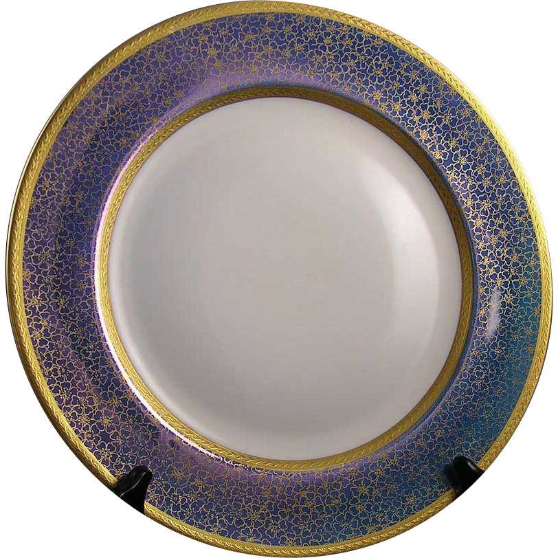 "Rosenthal Selb-Bavaria Pickard Studios ""Tracery & Blue Lustre"" Design Charger/Plate (c.1919-1922)"