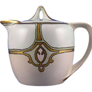 """Reinhold Schlegelmilch (RS) Germany Arts & Crafts Syrup Pitcher (Signed """"M.A.S.""""/c.1904-1938)"""