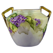 """Reinhold Schlegelmilch (RS) Germany Violet Motif Vase (Signed """"Byron""""/c.1904-1938)"""