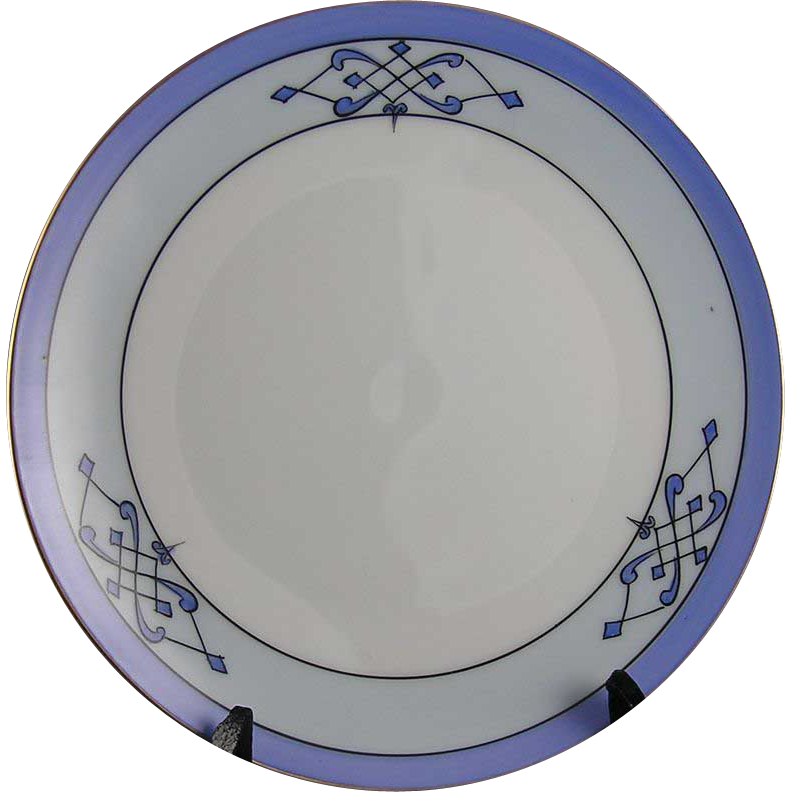 Jaeger & Co. (J&C) Bavaria Stouffer Studios Arts & Crafts Plate (c.1906-1914)