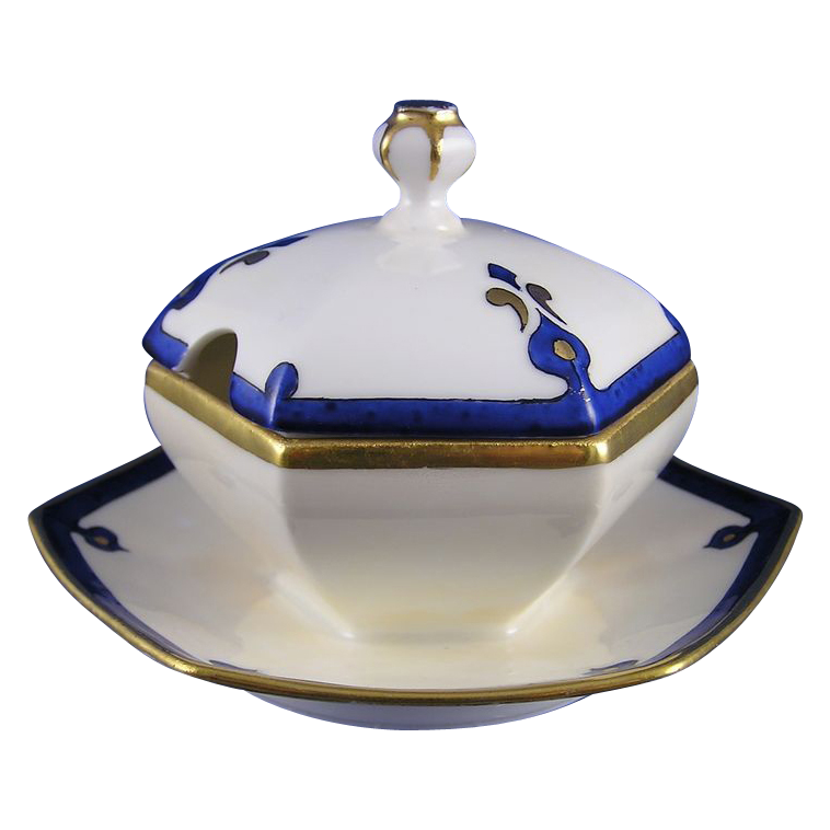 Limoges 'Mark 6' Art Deco Condiment Dish (c.1891-1930)