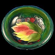 Moorcroft England Green Leaf and Berries Motif Dish (c.1919-1945)