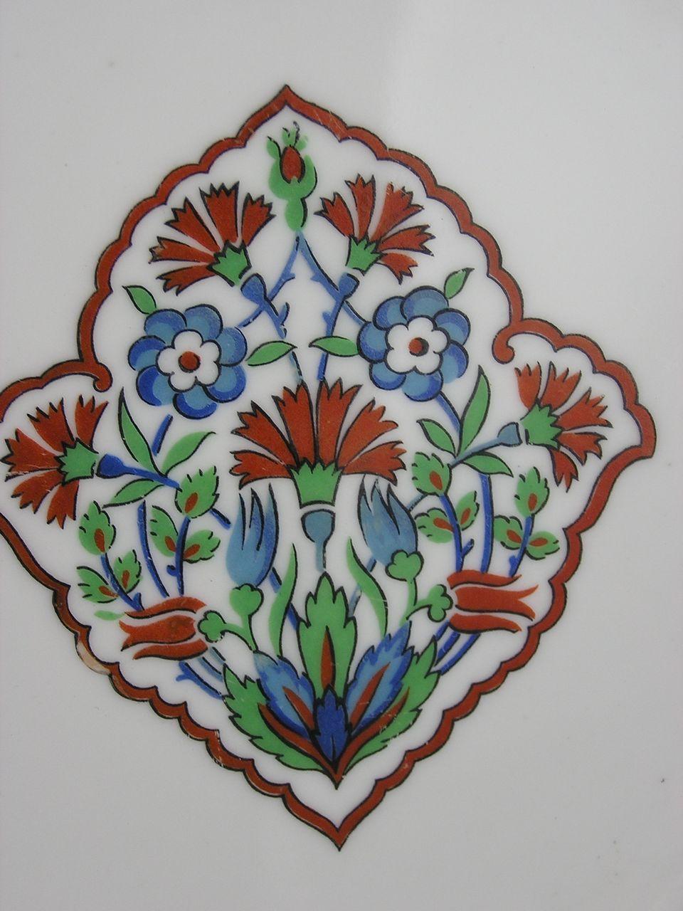 haviland limoges iznik islamic turkish floral motif. Black Bedroom Furniture Sets. Home Design Ideas