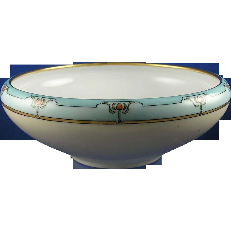 Tirschenreuth Bavaria Arts & Crafts Floral Motif Bowl (c.1927-1940)