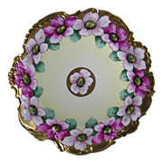Plainemaison Limoges Edward W. Donath Studio Floral Motif Plate (c.1910-1915)