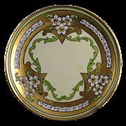"""Stouffer Studios Haviland Limoges """"Jonquil"""" Design Plate (Signed """"Bardos"""" for Isadore Bardos/c.1906-1914)"""