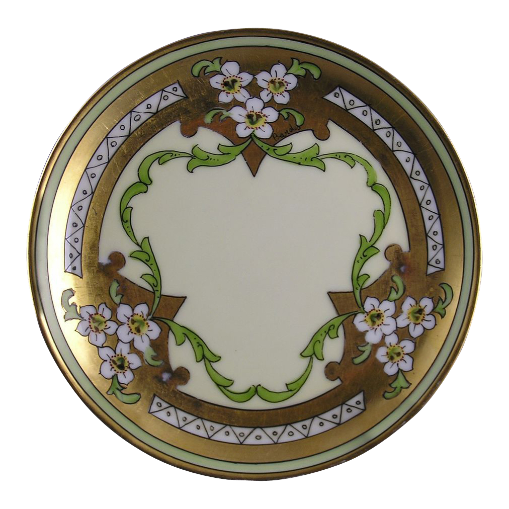 "Stouffer Studios Haviland Limoges ""Jonquil"" Design Plate (Signed ""Bardos"" for Isadore Bardos/c.1906-1914)"