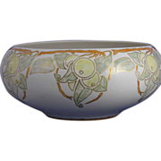 "Willets Belleek Arts & Crafts Citrus Motif Centerpiece Bowl (Signed ""R.K.""/c.1879-1912)"