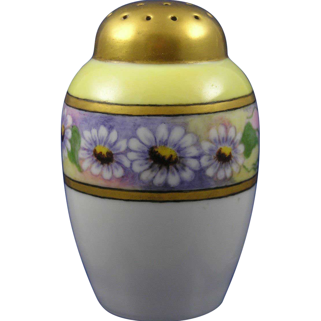 "Bavaria Arts & Crafts Daisy Motif Muffiner/Sugar Shaker (Signed ""H.H.D.""/c.1910-1920)"
