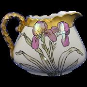 Bavaria Lustre Iris Motif Pitcher (c.1910-1930)