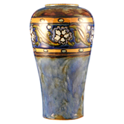 Royal Doulton Arts & Crafts Floral Motif Vase (Signed John Huskinson/c.1923-1927)