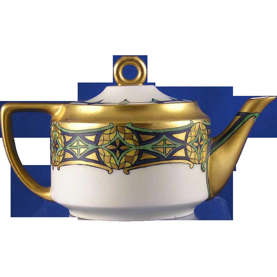 Rosenthal Empire Bavaria Arts & Crafts Tea Pot (c.1907-1940) - Keramic Studio Design