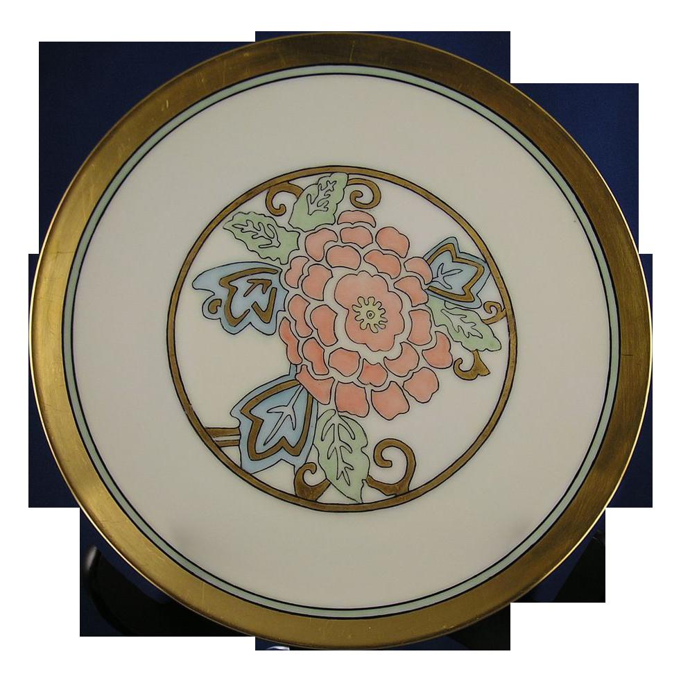 """Heinrich & Co. (H&C) Selb Bavaria Floral Motif Plate (Signed """"C.K.""""/c.1910-1930)"""