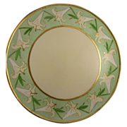 T&V Limoges Art Deco Calla Lily Charger/Plate/Tray (c.1892-1907)