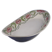 Limoges Blank Arts & Crafts Poppy Motif Serving Dish (c.1900-1930)