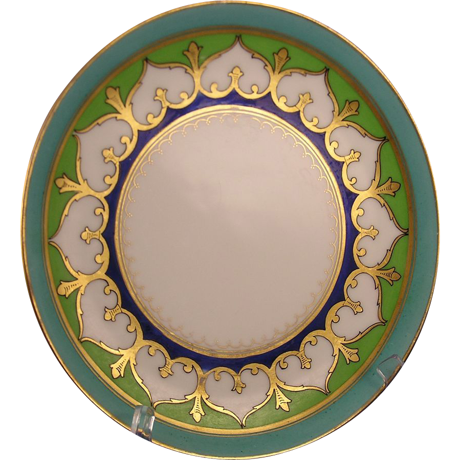 Haviland Limoges Stouffer Studios Arabesque Design Plate (c.1906-1914)