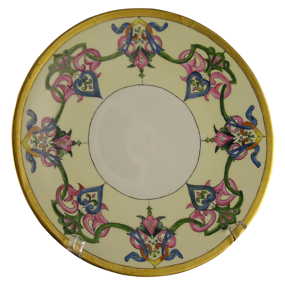 Jean Pouyat (JP) Limoges Arts & Crafts Plate (Signed/Dated 1907)