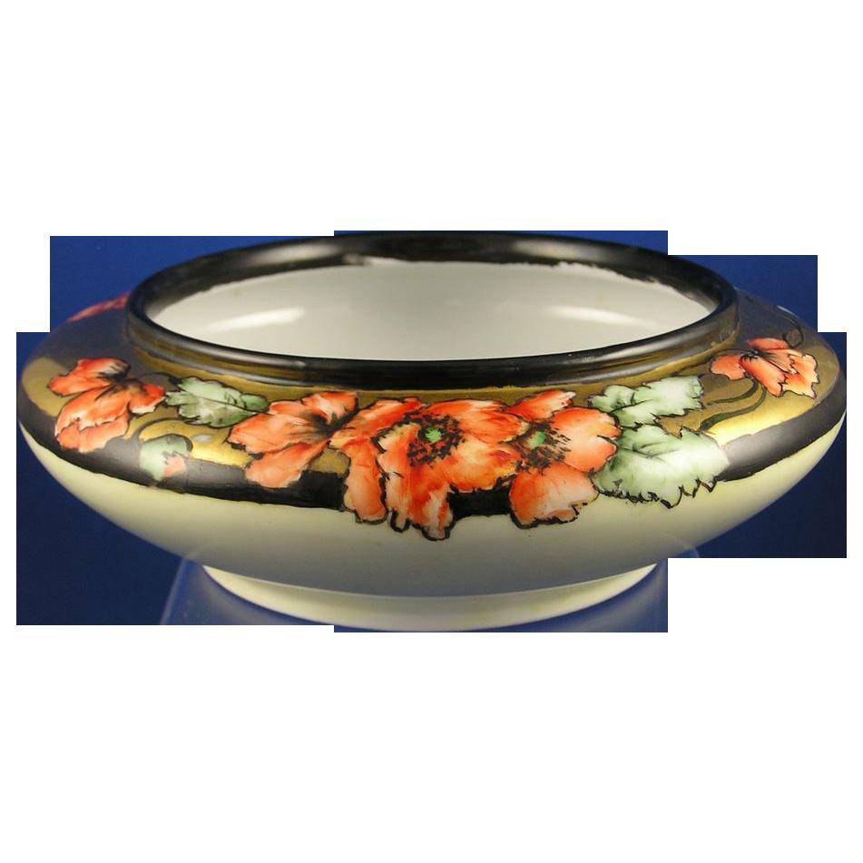 Oscar & Edgar Gutherz (O&EG) Austria Poppy Design Bowl/Planter (c.1899-1918)