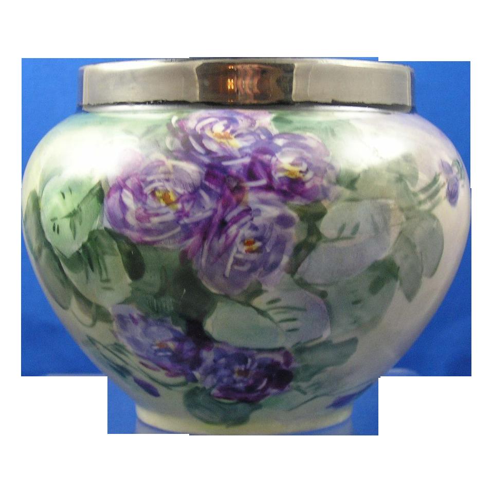William Guerin (WG&Co.) Limoges Violet Motif Vase (c.1900-1932)