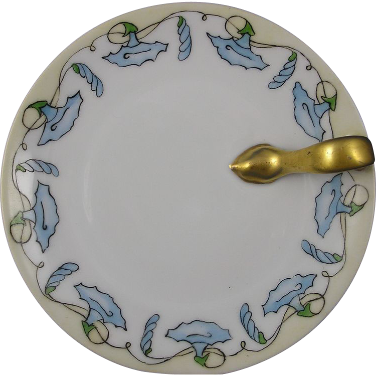 Bavaria Arts & Crafts Morning Glory Motif Lemon Server (Signed/c.1910-1930)