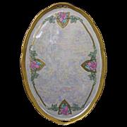 Royal Epiag Czechoslovakia Art Deco Rose Motif Tray (c.1918-1936)
