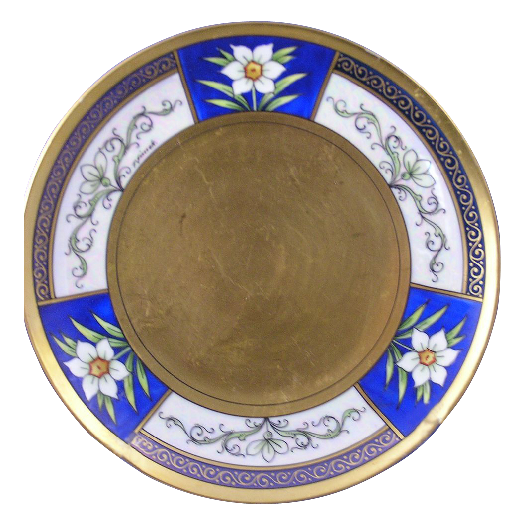 "Jaeger & Co. (JC) Bavaria Stouffer Studio Jonquil Design Plate (Signed ""J. Simek""/c.1905-1907)"
