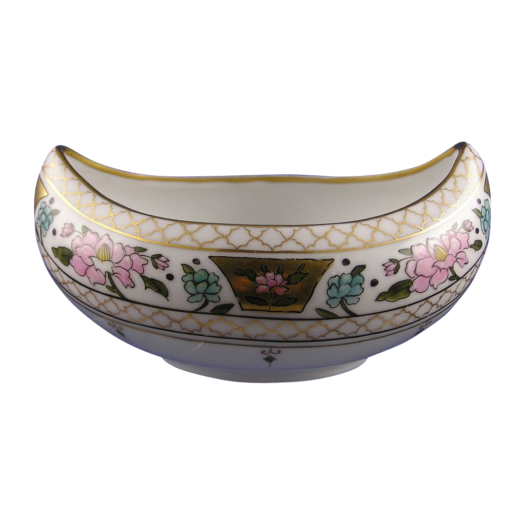 "Pickard Studio Enameled Floral ""Atlan Enamel"" Design Bowl (Signed ""Efdon"" for Edward F. Donisch""/c.1910-1912)"