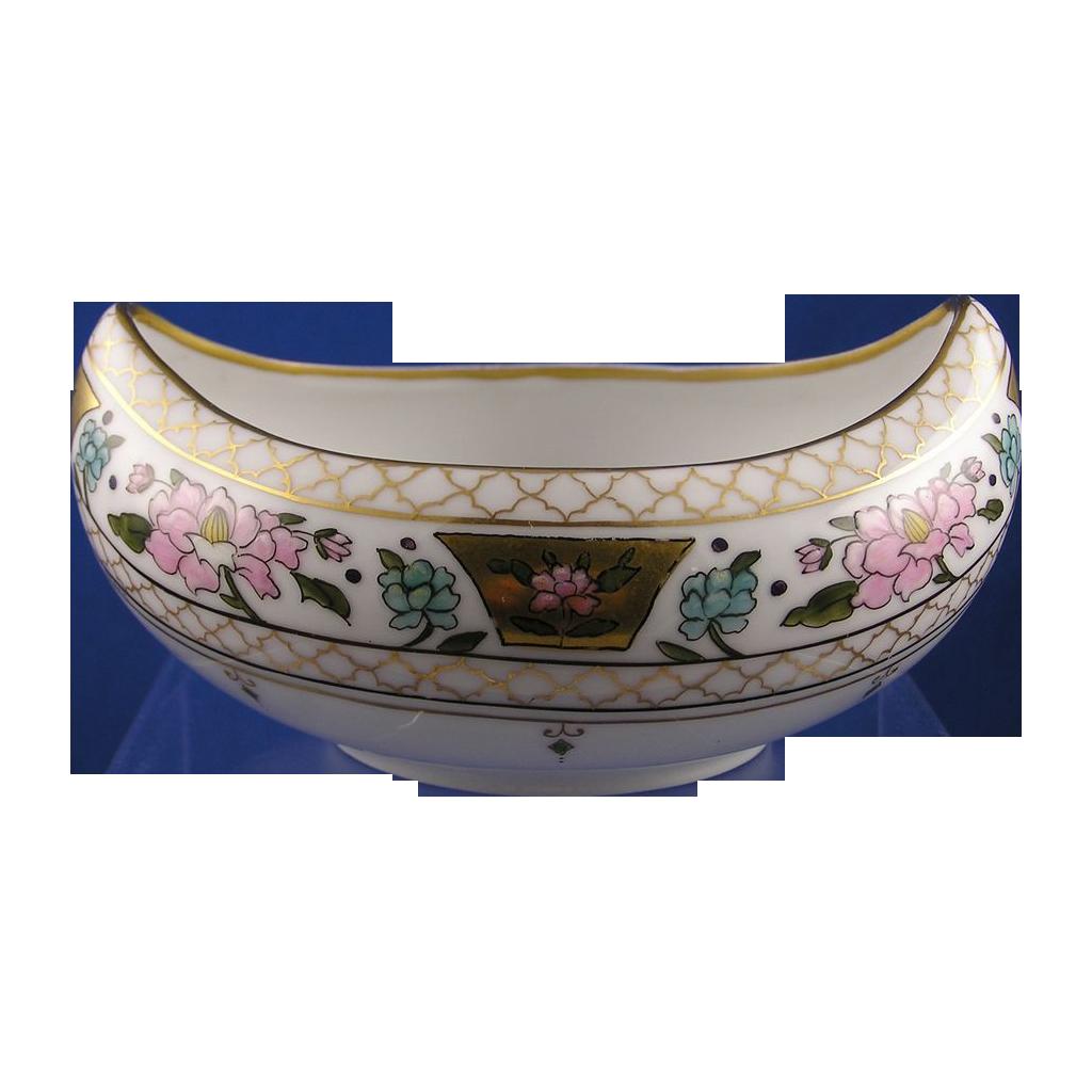 """Pickard Studio Enameled Floral """"Atlan Enamel"""" Design Bowl (Signed """"Efdon"""" for Edward F. Donisch""""/c.1910-1912)"""