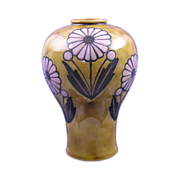 Royal Doulton Arts & Crafts Daisy Motif Vase (Signed by Bessie Newberry/c.1923-1927)