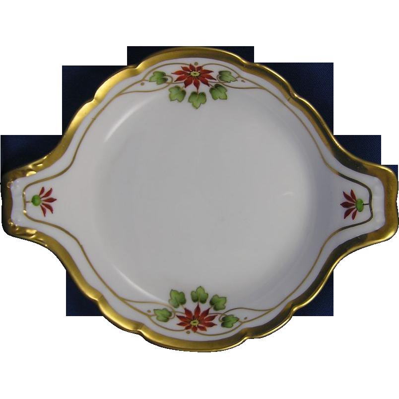 Pickard Studios Arts & Crafts Poinsettia Design Handled Dish (c.1912-1918)