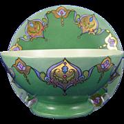"Jean Pouyat (JP) Limoges Arts & Crafts ""Russian Design"" Plate & Bowl Set (Signed ""Grace Reid""/c.1899-1932) - Keramic Studio Design"