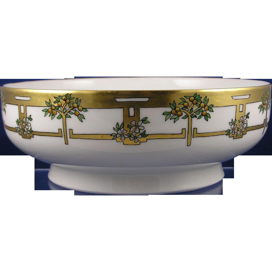 Haviland Limoges Orange Tree Motif Centerpiece Bowl (c.1911-1931) - Keramic Studio Design