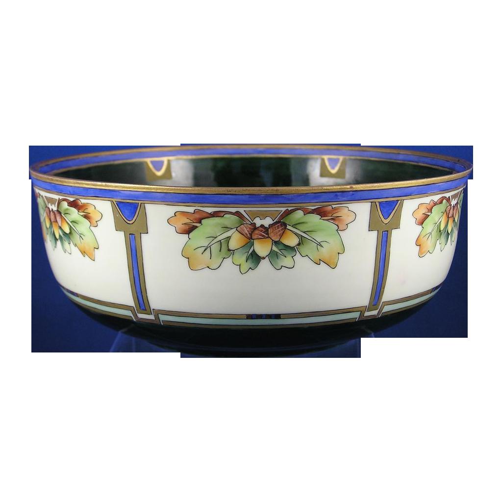 Moritz Zdekauer (MZ) Austria Arts & Crafts Acorn Motif Bowl (c.1884-1909)