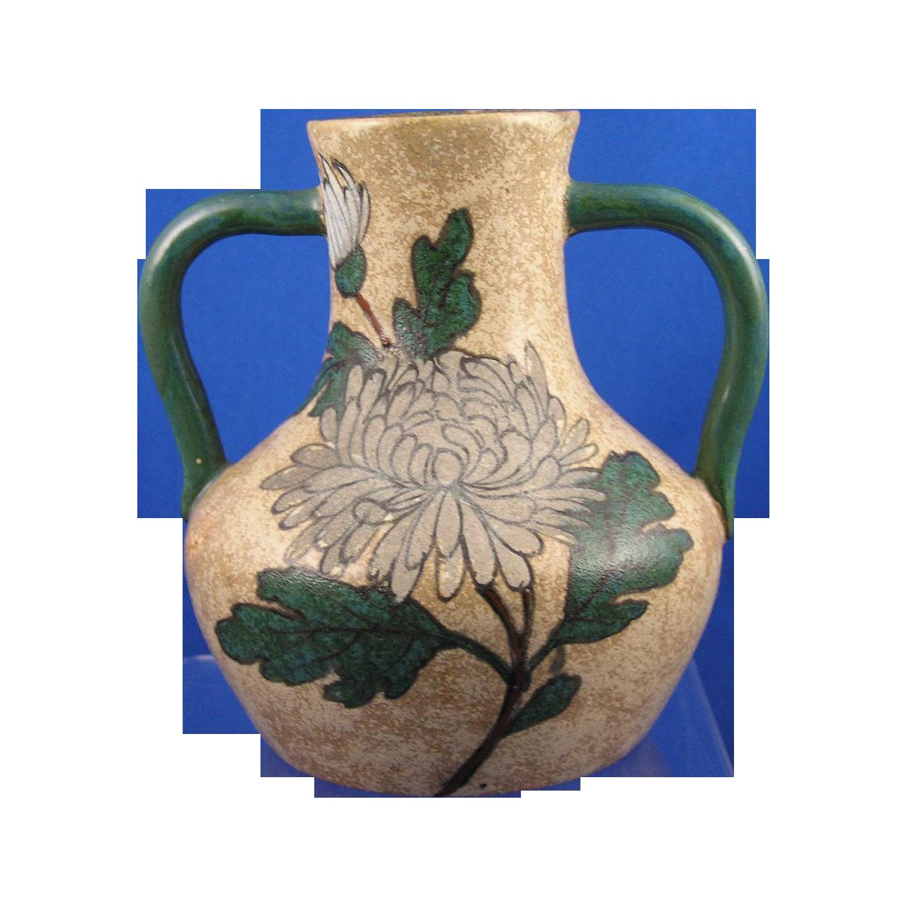 Stellmacher Amphora Austria Arts & Crafts Mum Motif Handled Vase (c.1905-1910)