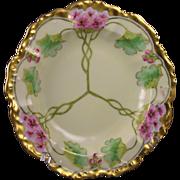 """T&V Limoges Stouffer Studios Floral Bowl (Signed """"E. Feix"""" for Ernest Feix/c.1906-1914)"""
