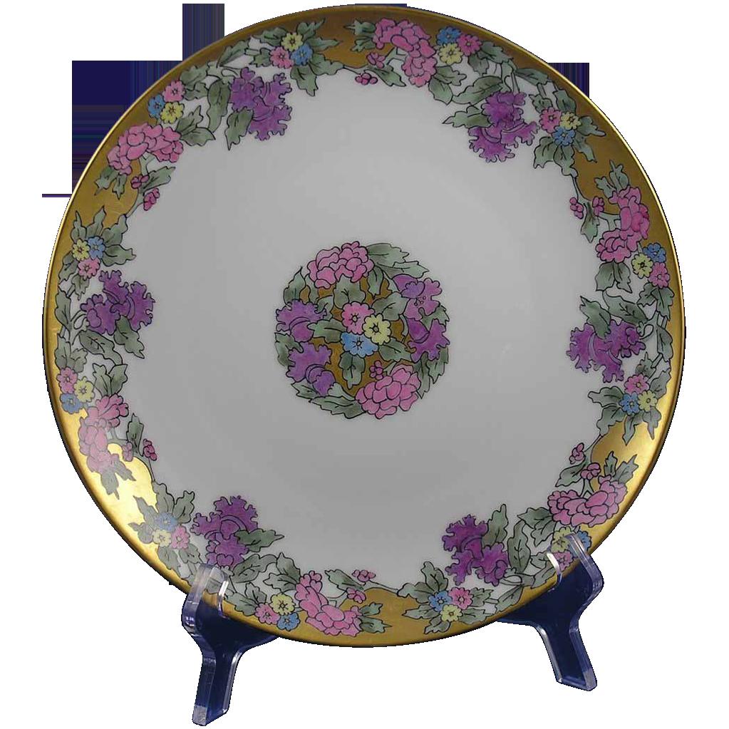 bavaria art deco floral motif plate signed marie from. Black Bedroom Furniture Sets. Home Design Ideas